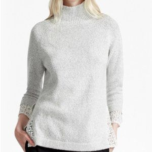 French Connection 3/4 Sleeves light grey sweater
